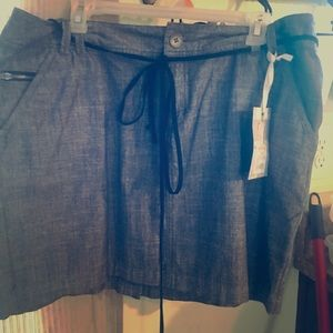 Converse skirt with suede belt